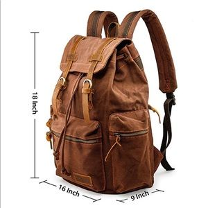 Canvas/Leather Military Style Backpack